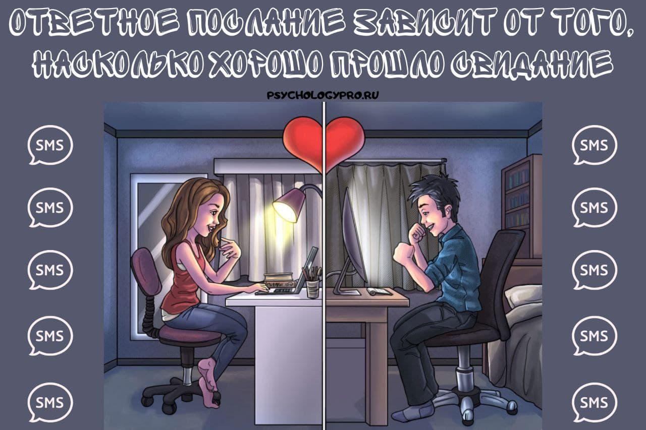 Ответное послание зависит от того, насколько хорошо прошло свидание