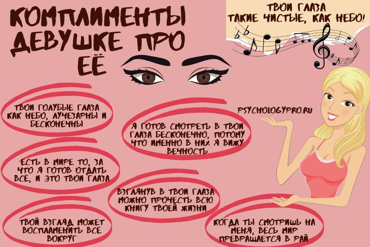 инфографик Комплименты про глаза