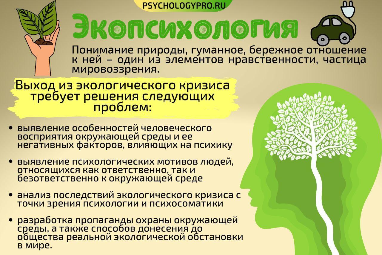 инфографик Экопсихология
