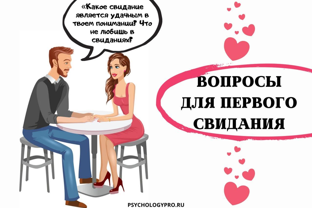 Какие вопросы задать парню или девушке на первом свидании