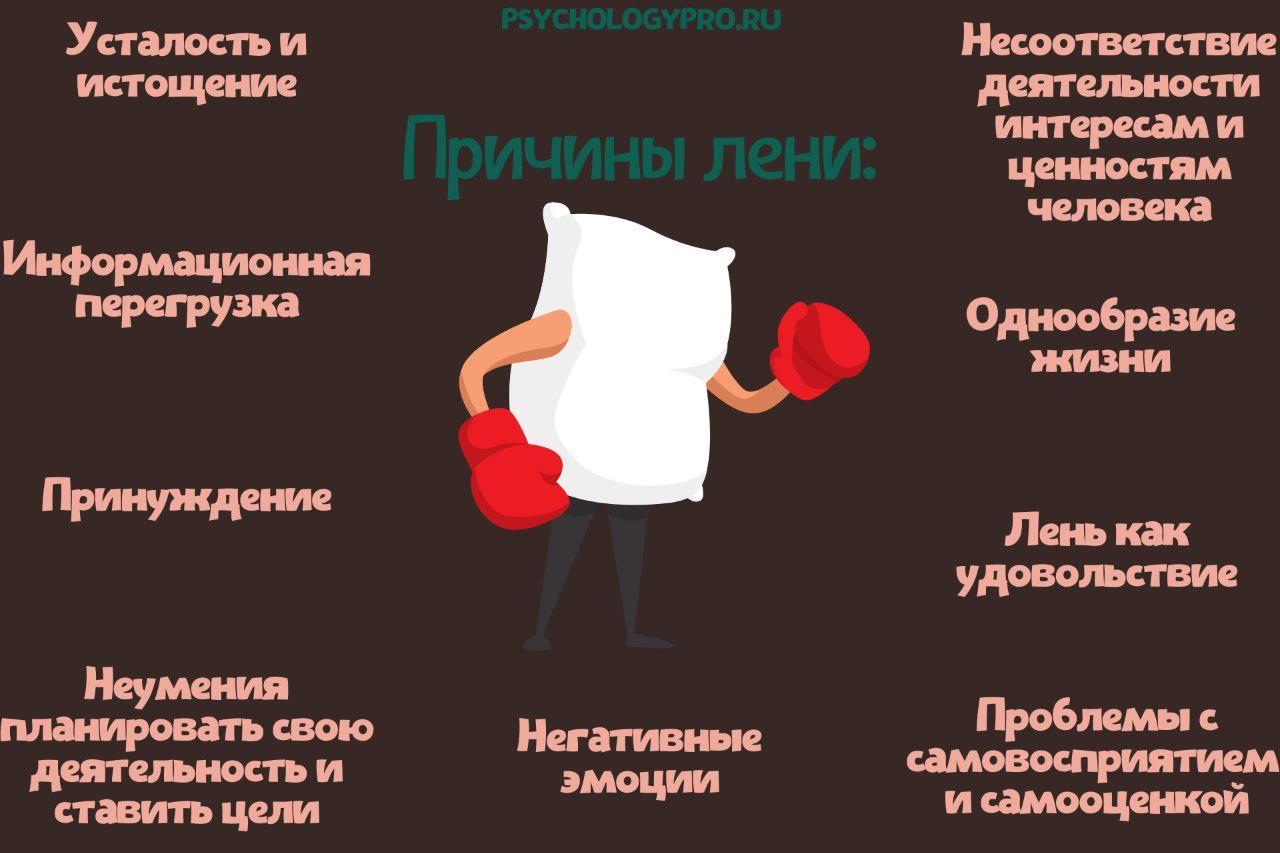 Инфографик Причины лени